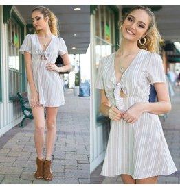 Dresses 22 Spring Dream Stripe Beige Dress