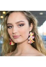 Jewelry 34 Colorful Raffia Earrings