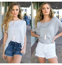 Tops 66 Stripe Short Sleeve Piko Top