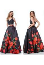 Formalwear Rose Romance Formal Two Piece Dress