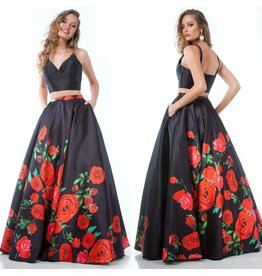 Formalwear Rose Romance Formal Two Piece Dress