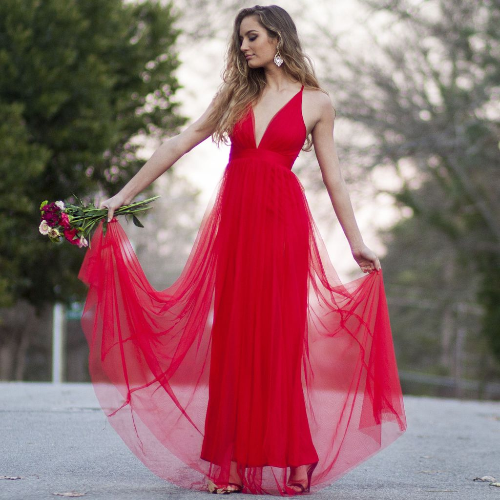 Formalwear Real Romance Red Tulle Dress - Cousin Couture