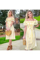 Dresses 22 Hello Sunshine Stripe Yellow Dress