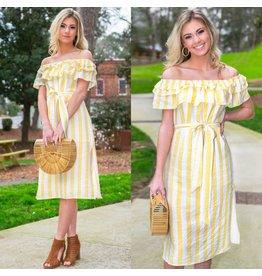 Dresses 22 Hello Sunshine Stripe Yellow Dress