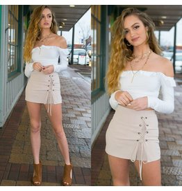 Shorts 58 Lace Up Spring Sand Skort