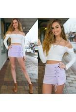 Shorts 58 Lace Up Lavender Spring Skort