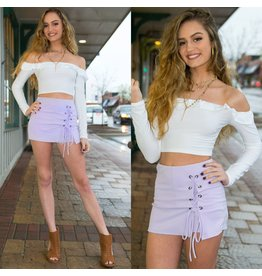 Shorts 58 Lace Up Lavender Spring Skort