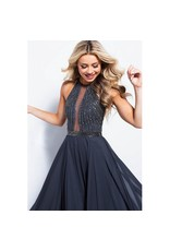 Formalwear Elegant Evening Charcoal Formal Dress