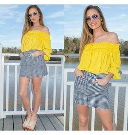 Skirts 62 Get It Girl Navy Gingham Skirt