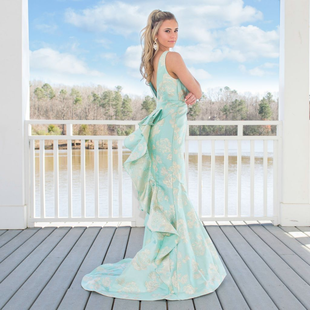 Formalwear Formal Affair Seafoam Formal Dress