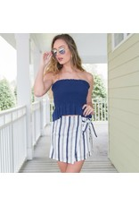 Tops 66 Strapless Smocking Top