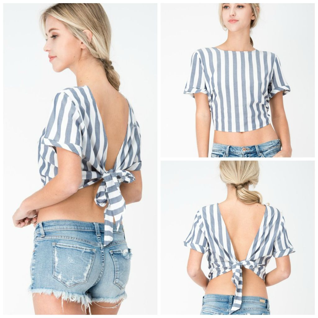 Tops 66 Tied Up In Stripes Top