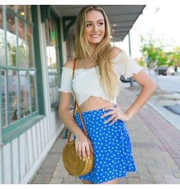 Skirts 62 Flower Power Blue Skirt