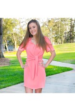 Dresses 22 Coral Crush Front Knot Dress