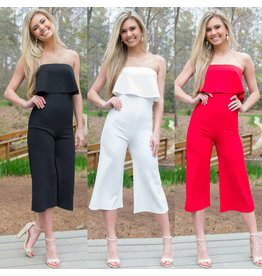 Jumpsuit Take It To The Top Strapless Midi Jumpsuit