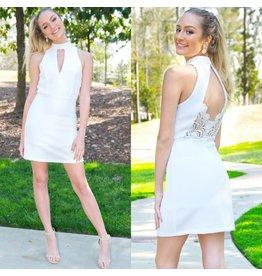 Dresses 22 Lacy Back Summer White Dress