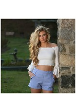 Tops 66 Bell Sleeve And Ruffle White Crop Top