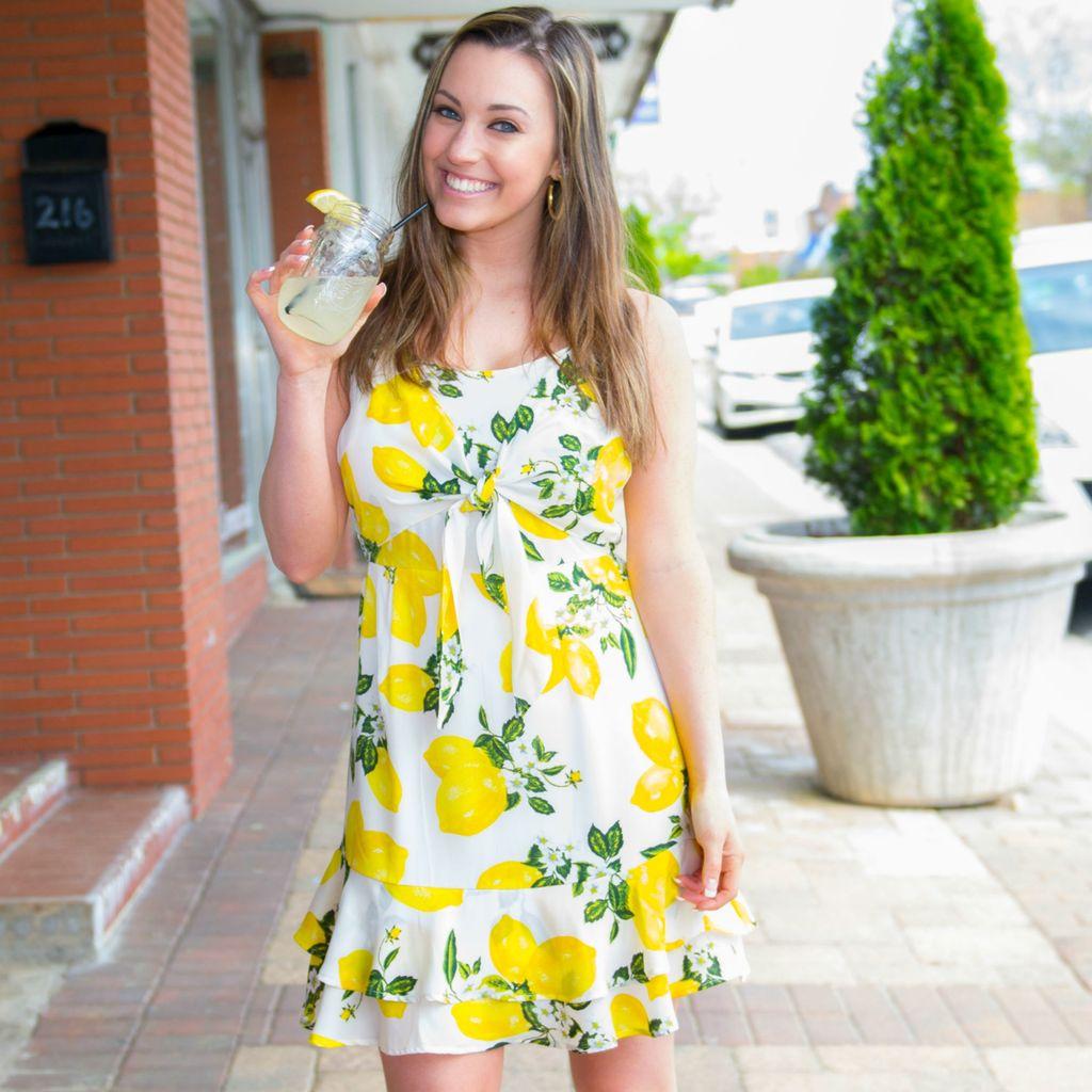Dresses 22 Lemon Squeeze Front Tie Dress