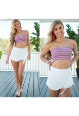 Shorts 58 Boardwalk Summer White Wrap Shorts