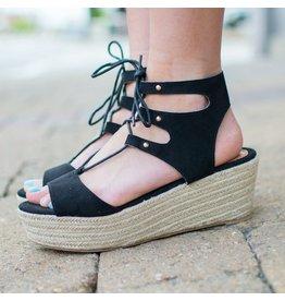 Shoes 54 Stride Worthy Black Summer Espadrilles