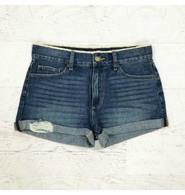 Shorts 58 High Waisted and Distressed Cuffed Denim Shorts