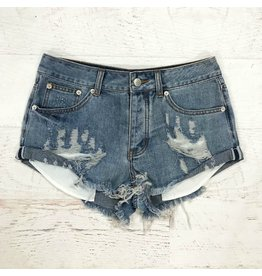 Shorts 58 Medium Denim Distressed Shorts