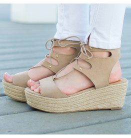 Shoes 54 Stride Worthy Taupe Summer Espadrilles