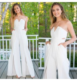 Jumpsuit Glam Occasion White Jumpsuit
