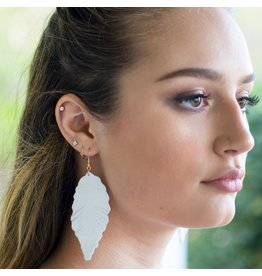 Jewelry 34 White Feather Earrings