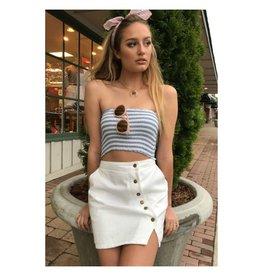 Skirts 62 Button Up White Denim Skirt