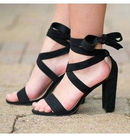Shoes 54 Wrap It Up Black Heel