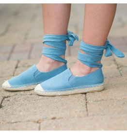 Shoes 54 Lace Up & Denim Espadrille