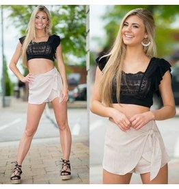Pants 46 Boardwalk Summer Beige Wrap Shorts