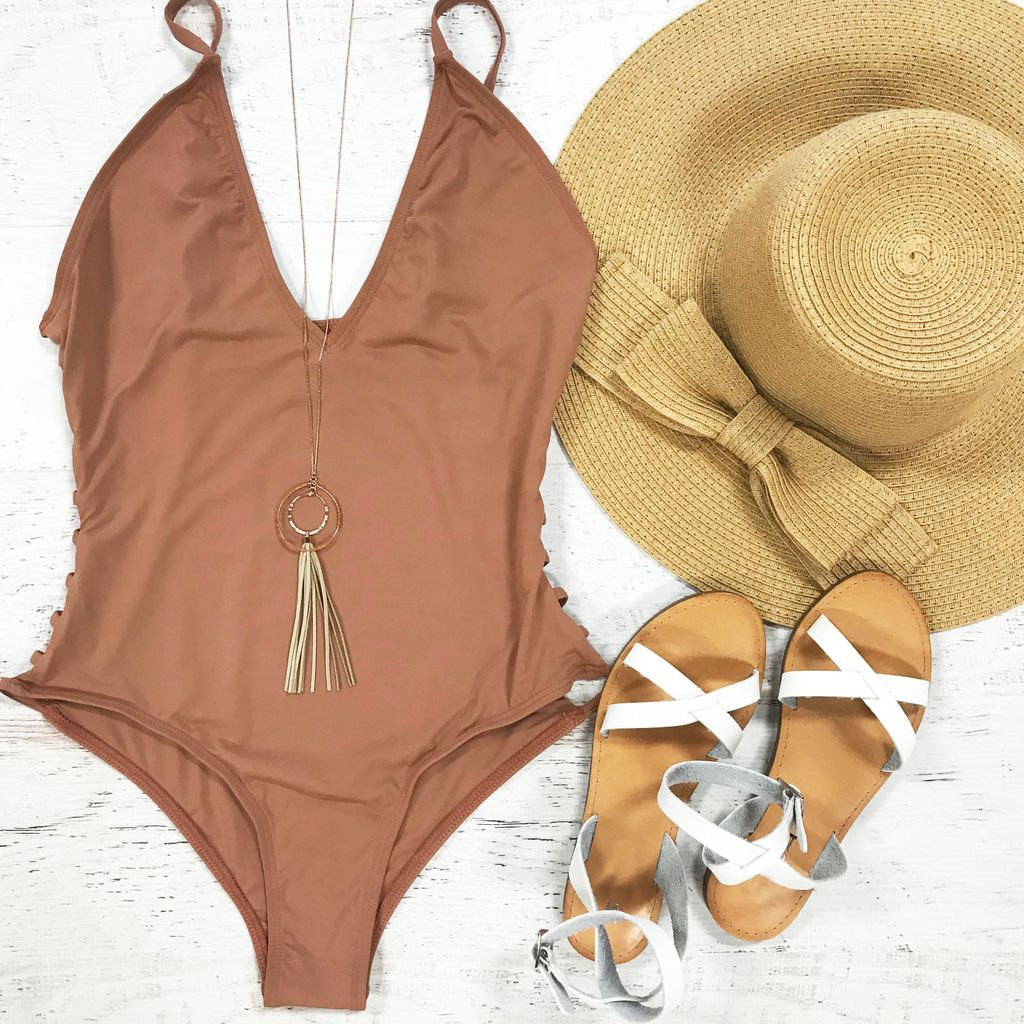Swimsuits Coppertone Side Cutout Swimsuit