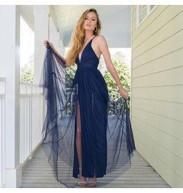 Dresses 22 Swept Away Navy Tulle Dress