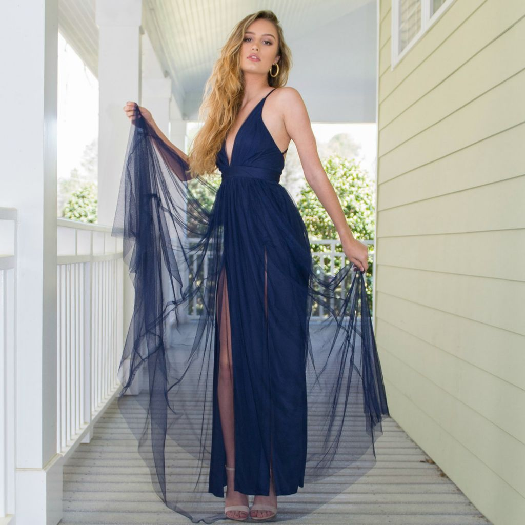Dresses 22 Swept Away Navy Tulle Dress