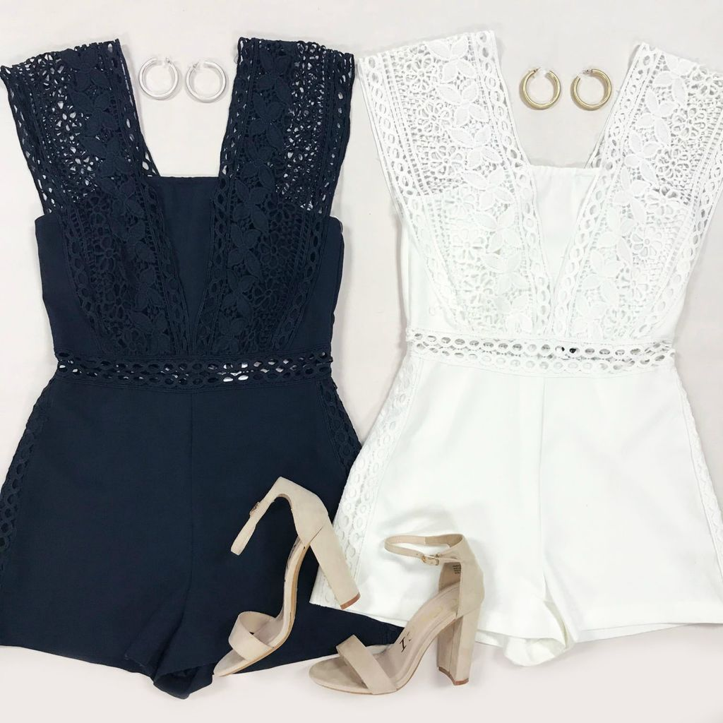 Rompers 48 Crochet Summer Crush White Romper