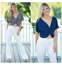 Tops 66 No Hesitation Knotted Front Top