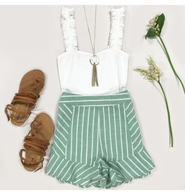 Shorts 58 Summer Sage & Stripes Shorts