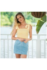 Tops 66 Hello Yellow and Gingham Top