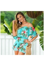 Tops 66 Tropical Punch Floral Top