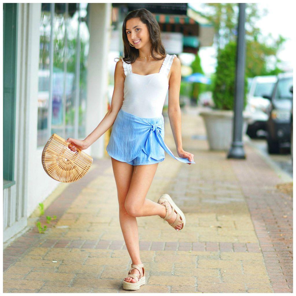 Skirts 62 Summer Love Blue Wrap Skort