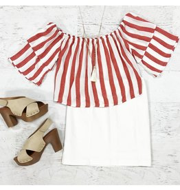 Tops 66 Go With The Flow Stripe Top
