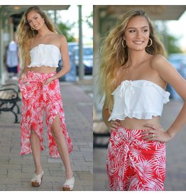 Pants 46 Tropical Punch Red Wrap Pants