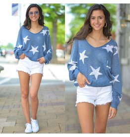 Tops 66 Star Celebration Summer Knit Top