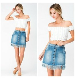 Skirts 62 Fun and Fringy Denim
