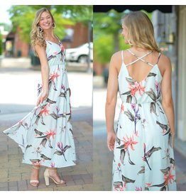 Dresses 22 Tropical Stripe Maxi Dress