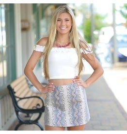 Skirts 62 Colorful Snakeskin Skirt