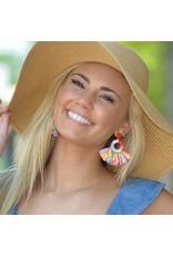 Jewelry 34 Colorful Raffia Tassel Earrings