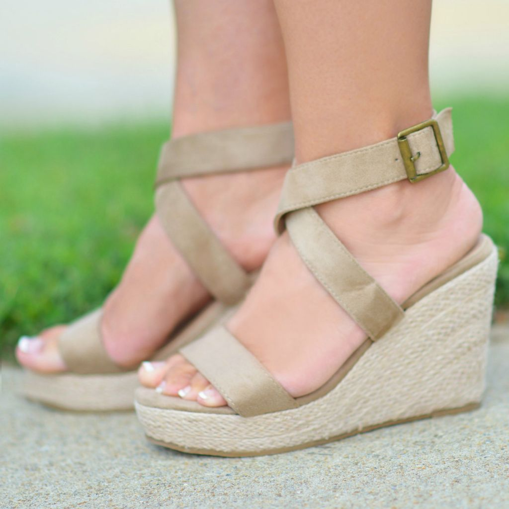 Shoes 54 Walk This Way Summer Wedge Espadrille
